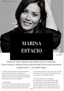 Marina Estacio, entrevista Revista Veinte